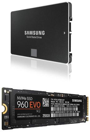 SSD Samsung 850 et 960