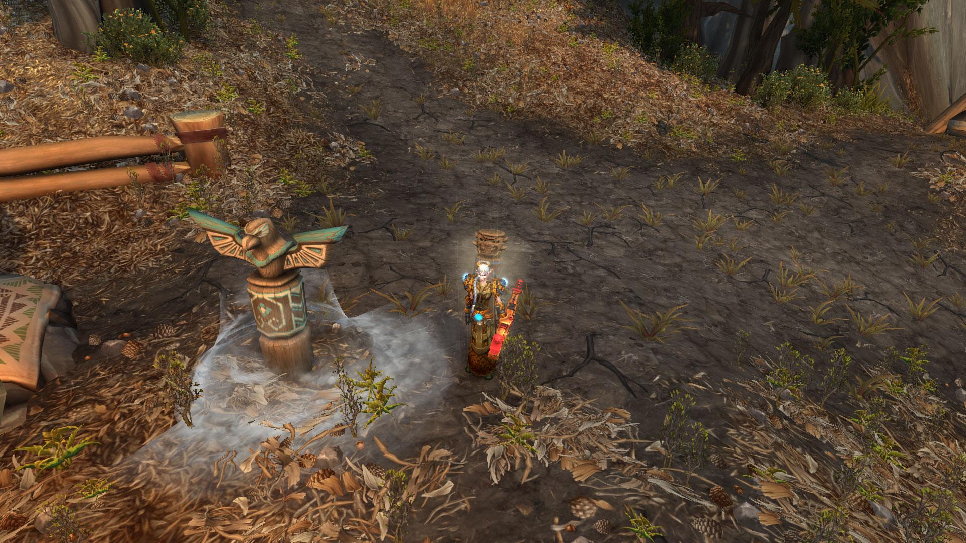 Apparence du Totem brise chute et d'un des totems vendus par le charlatan