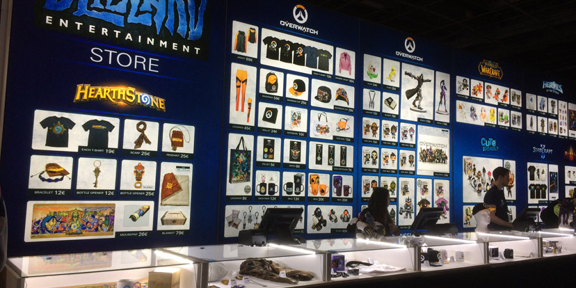 d couvrez les produits et prix de la boutique blizzard la paris games week judgehype. Black Bedroom Furniture Sets. Home Design Ideas