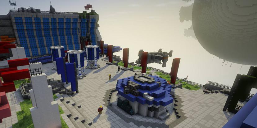 les zones de destiny reproduites dans minecraft destiny 2 judgehype. Black Bedroom Furniture Sets. Home Design Ideas
