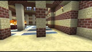 La ville de Lut Gholein reproduite dans Minecraft