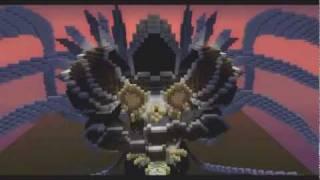 Tyraël reproduit dans Minecraft